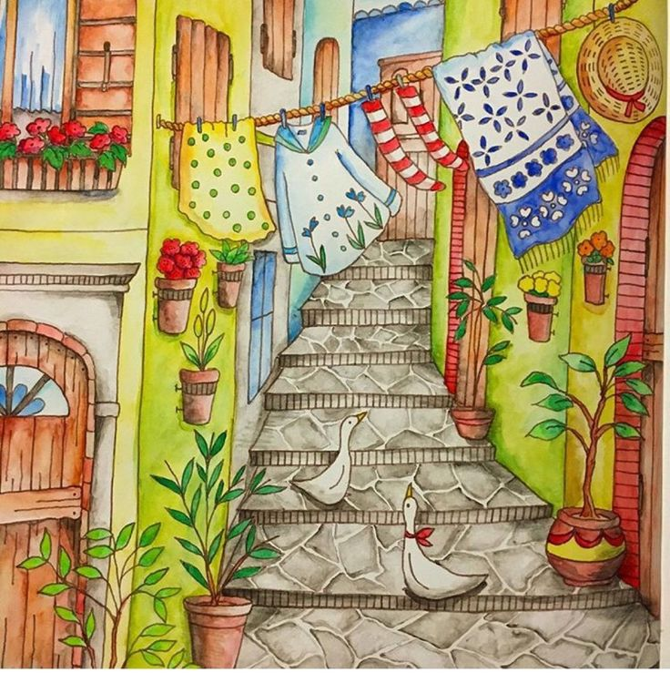 17 Best Images About Romantic Country Coloring Book On