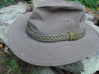 """Over the years I have received dozens of emails and calls in regard to making the braided band on my hat. Therefore, I thought I might do a short tutorial in regard to making a five plait braided hatband from parachute cord.This is a closer view of the five plait braid parachute cord hatband on my """"go to the woods"""" hat.I usually start with five lengths of parachute cord, about three times as long as the circumference of the portion of the hat that fits around your head. Tie ..."""