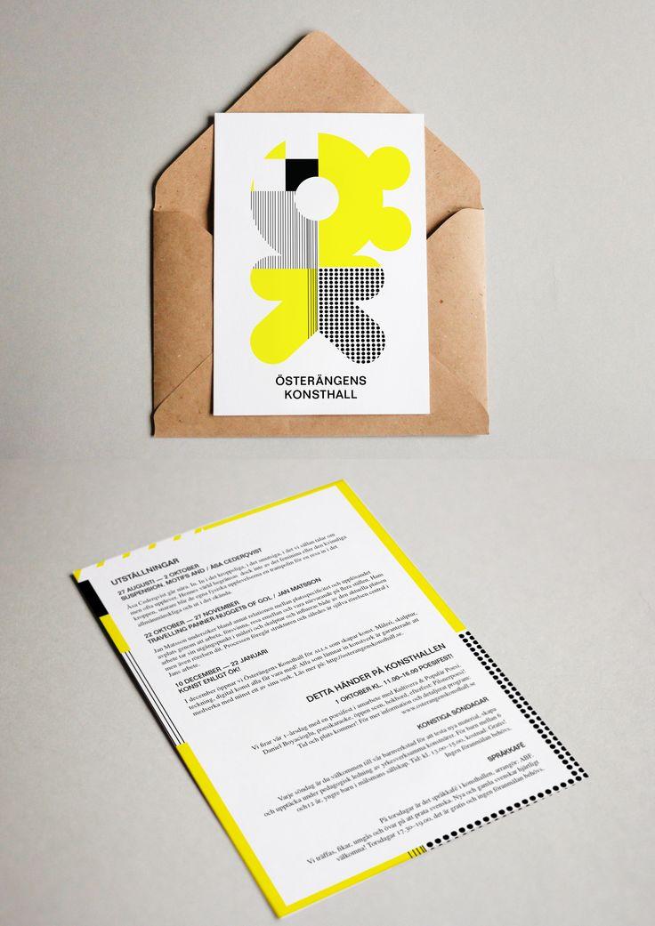 CASE: Förslag på ett enkelt men konstnärligt programblad för en konsthall.