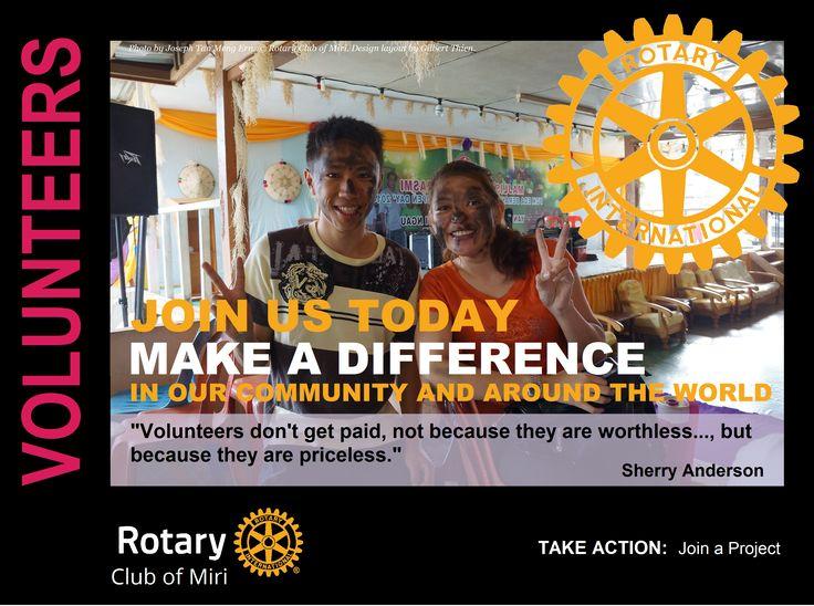 Rotary Club of Miri - Mini Poster - Volunteers by GT