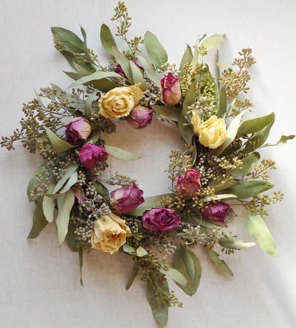 How to Dry Roses & Make a Rose Wreath