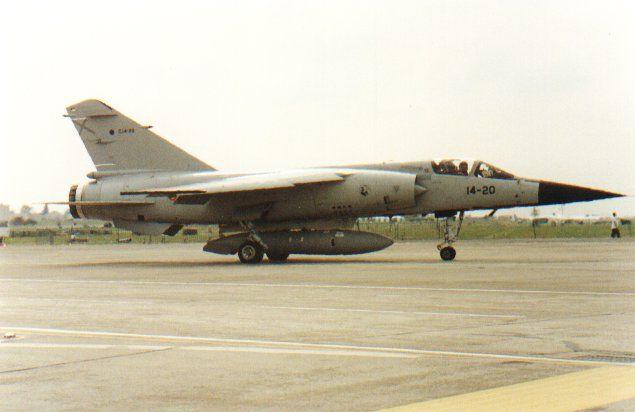 Spanish Air Force Dassault Breguet Mirage F-1C. Taken at RAF Fairford IAT 1991 on departure day.