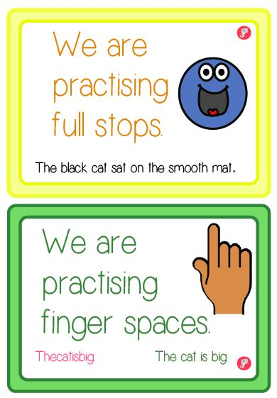 Visual Target Cards for Writing Year 1 - Just Teach It