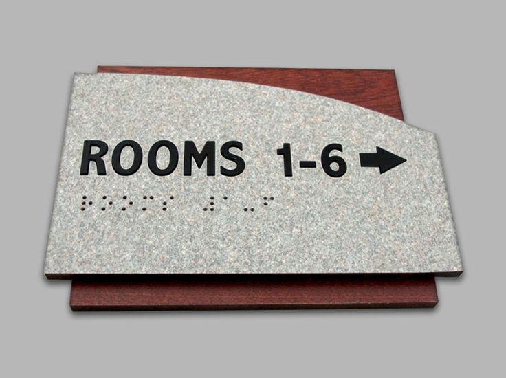 Room Number Signs - Braille - Inserts- Erie Custom Signs