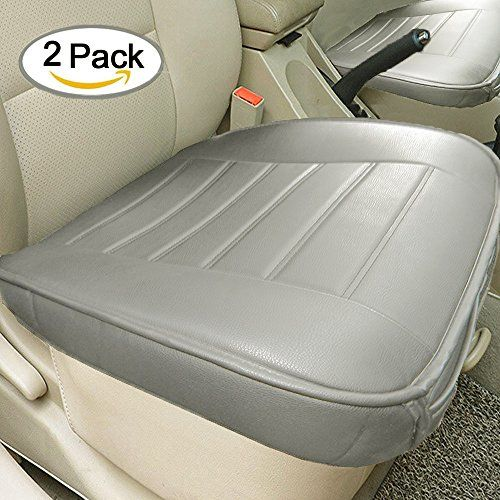 Edge Wrapping 2pc Car front Seat Cushion Cover Pad Mat for Auto Supplies Office Chair with PU Leather Bamboo Charcoal(Grey). For product info go to:  https://www.caraccessoriesonlinemarket.com/edge-wrapping-2pc-car-front-seat-cushion-cover-pad-mat-for-auto-supplies-office-chair-with-pu-leather-bamboo-charcoalgrey/