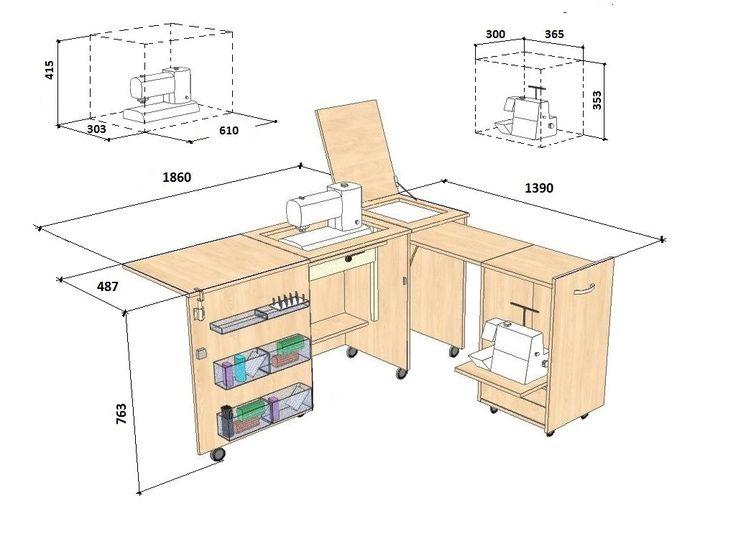 sewing machine dimensions - Recherche Google