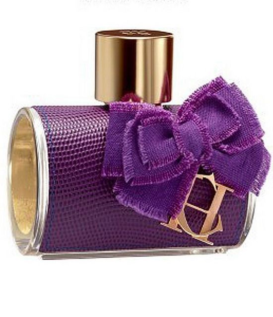 Carolina Herrera perfume in a cute purple bottle.