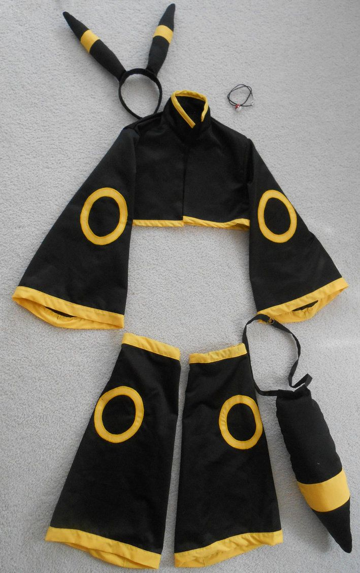 Basic Umbreon costume pieces. Includes jacket, leggings, tail, and hair/ear piece.