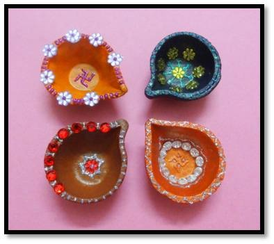 i love these! Diya Decorations for Diwali