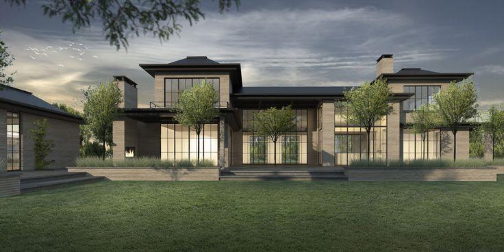 17 beste idee n over landhuis ontwerp op pinterest for Modern landhuis