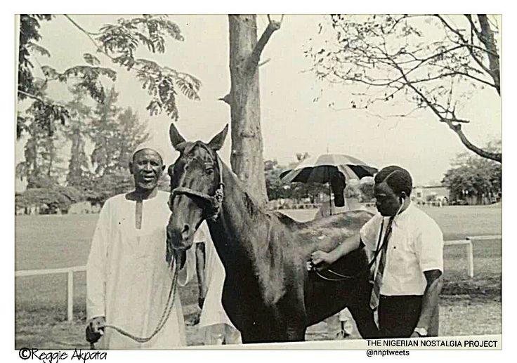 Veterinary Surgeon at work at Polo Club Lagos Nigeria | 1960s | Photo source Reggie Akpata Nigerian Nostalgia Project