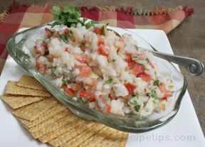 This lively version of the traditional South American dish contains a tangy blend of ingredients that makes a refreshing and distinctive appetizer course.