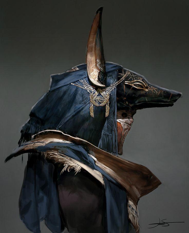 Assassins Creed Origins Priest of Anubis concept , Jeff Simpson on ArtStation at https://www.artstation.com/artwork/4OONW