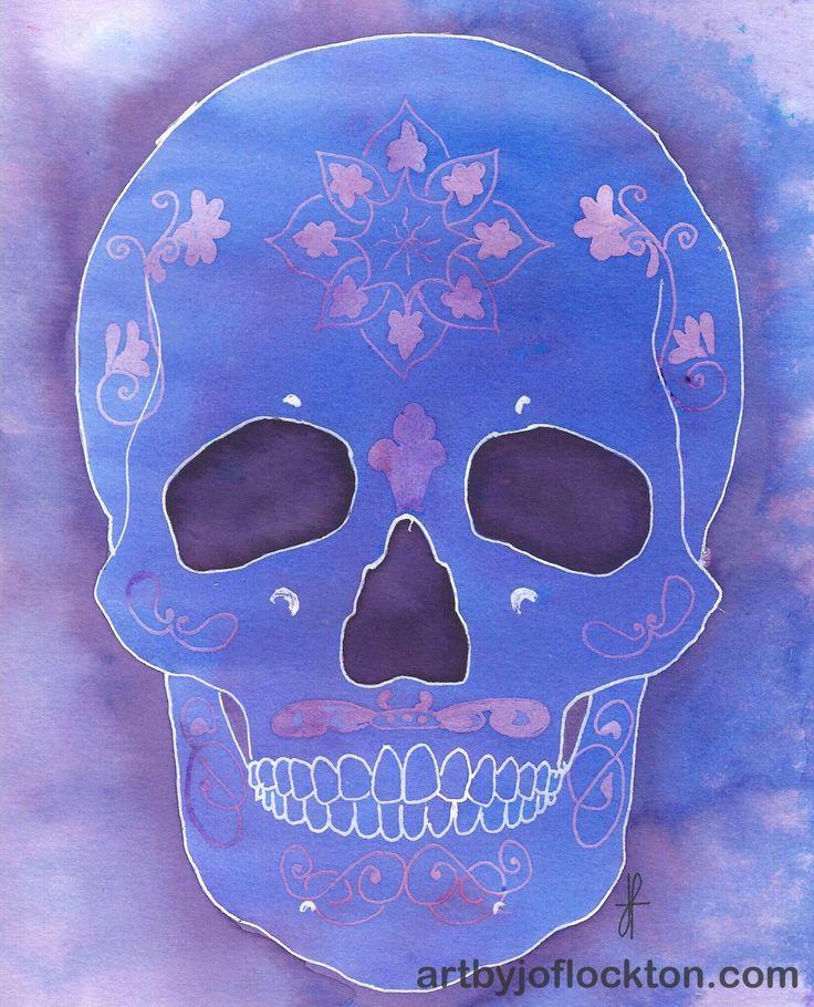 Embossed Sugar Skull