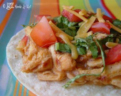 Crockpot Creamy Chicken Tacos