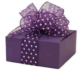 Purple with poka dots