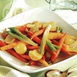 Braised Leeks, Parsnips and Carrots