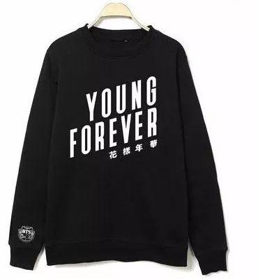 moletom careca bts young forever kpop casaco s/ capuz blusa