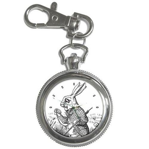 White Rabbit Alice In Wonderland I'm Late Key Chain Watch #whiterabbit #aliceinwonderland #shopping #gift #unique #rabbit
