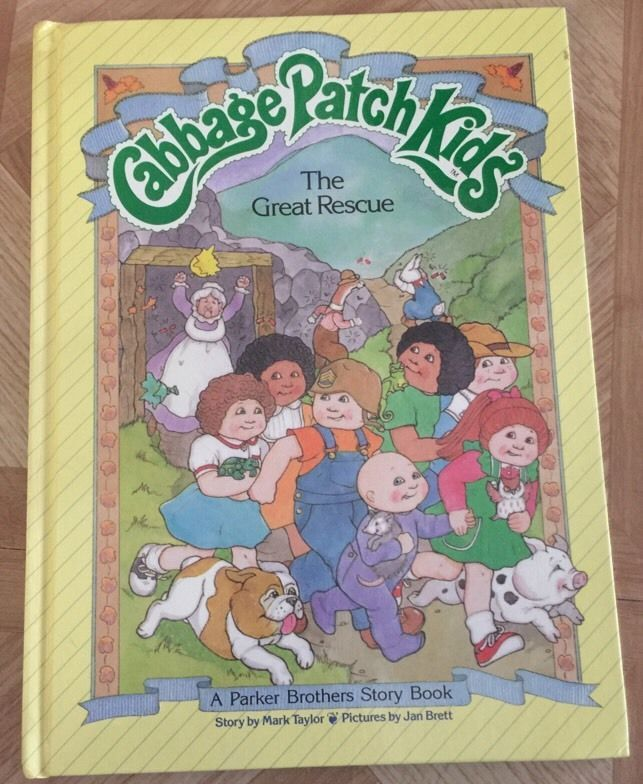 1984 Cabbage Patch Kids Parker Brothers Book The Great Rescue Hardcover Vintage 0910313288 | eBay