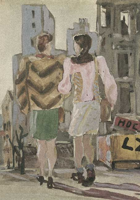 Alexander Deineka. Painting. From Vienna's sketches. 1947