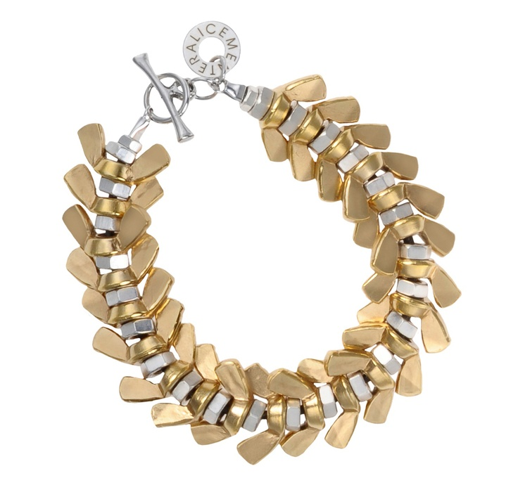 Gina silver and gold cuff - Alice Menter Jewellery - #winboticca