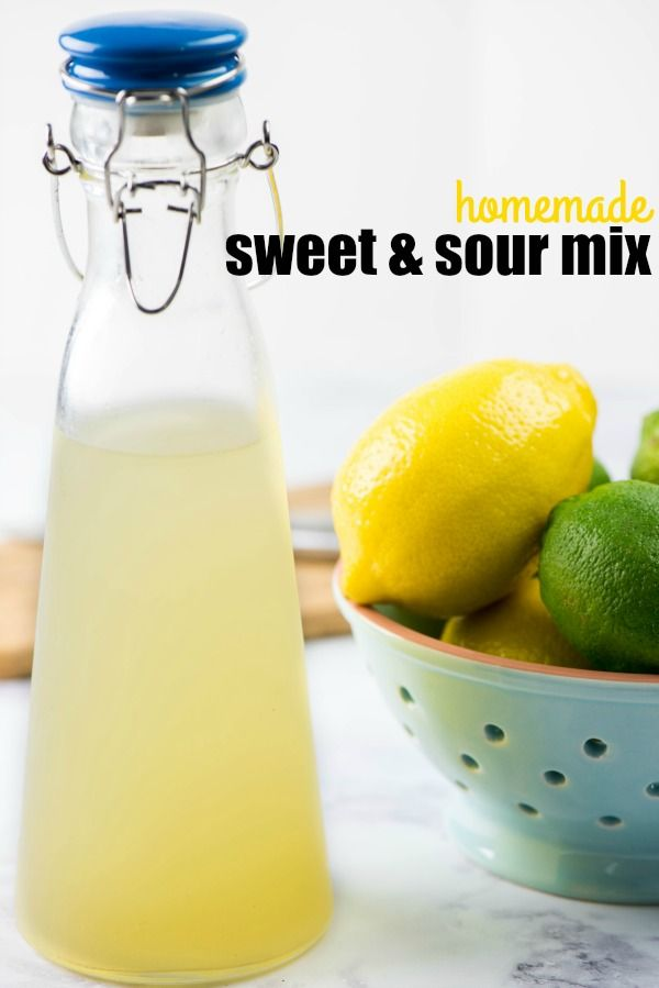 Homemade Sweet and Sour Mix is so simple to make and will kick your cocktails up to the next level with the fresh flavor of lemon and lime!