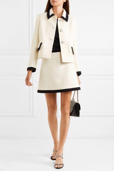 d4d89b575c8d3 Miu Miu - Faux pearl-embellished wool-crepe jacket in 2019 | sewing ...