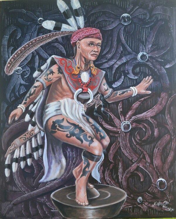 Dayak Dance  120cm x 130cm Acrilik On Canvas 2015
