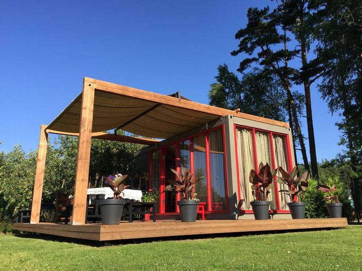 Sjekk ut dette utrolige stedet på Airbnb: Saulkrasti Summer Container House i Ainava