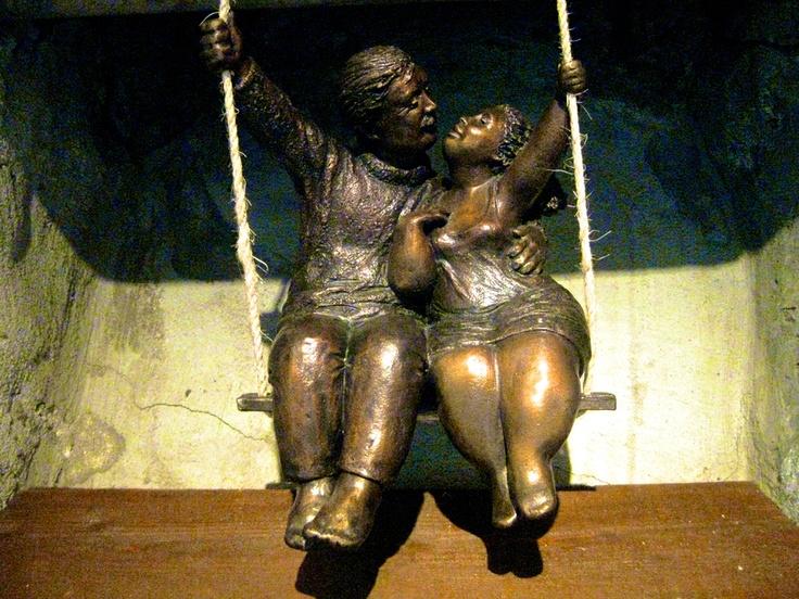 lovers on a swing