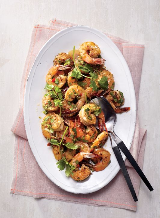 Curtis Stone's Shrimp With Cilantro, Chilies, and Lime