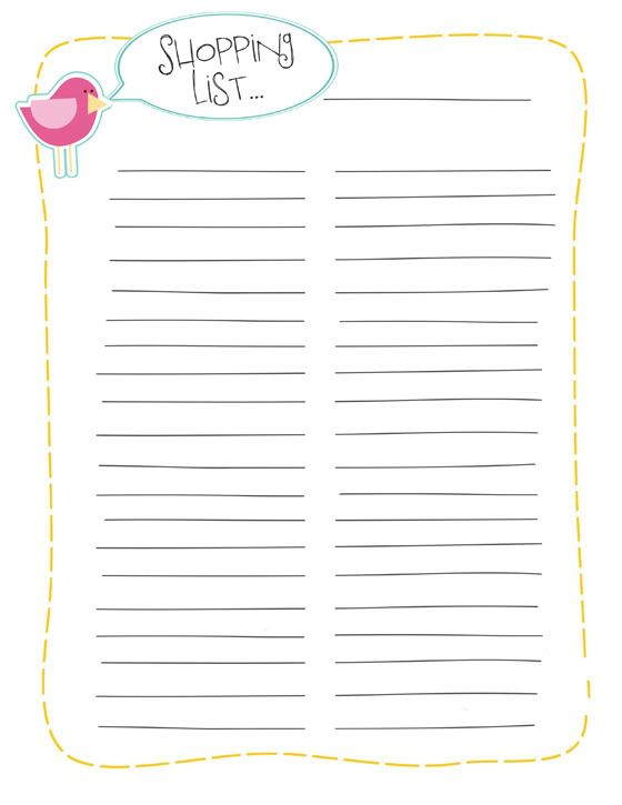 Más de 25 ideas fantásticas sobre Printable Shopping List en Pinterest - free shopping list template