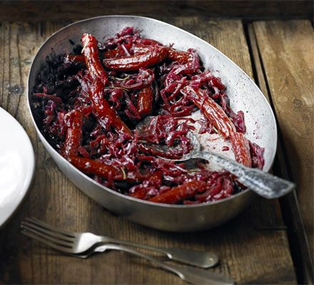 Rosemary braised red cabbage with kabanos recipe - Recipes - BBC Good Food