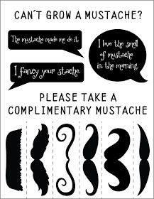 Fontaholic: FREEBIE FRIDAY: Complimentary Mustaches