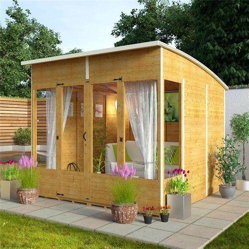 Garden Sheds 8x8 summer house log cabin sun room garden wooden shed office luxury