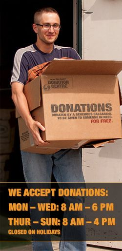 www.thedi.ca - The DI will accept all donations at 3640 11A Street NE Phone: 403-264-0856