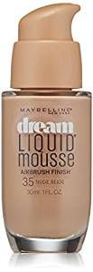 Amazon.com : Maybelline New York Dream Liquid Mousse Foundation, Nude Beige, 1 fl. oz.(Packaging May Vary) : Foundation Makeup : Beauty