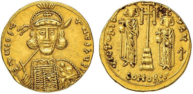 NumisBids: Nomisma Spa Auction 50, Lot 43 : BISANZIO Costantino IV (668-685) Solido (Siracusa) Busto elmato di...