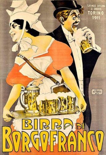 BIRRA-di-BORGOFRANCO-BEER-BERE-ALCOL-BIBITE-PUB-BAR-CHIC-Deco-poster-stampa