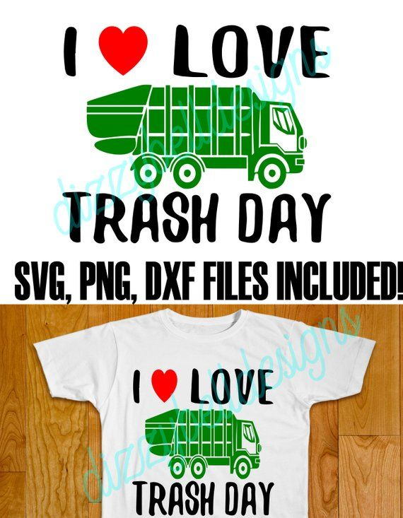 I LOVE TRASH DAY - Garbage Truck Birthday Party Shirt -THIS