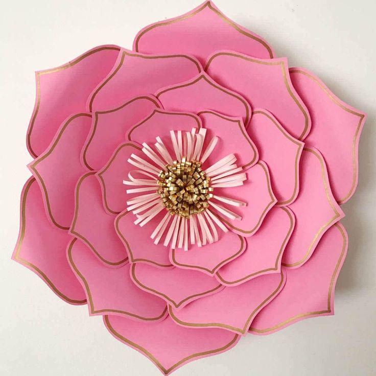 svg dxf petal 3 paper flower template flat center paper flowers digital svg cutting machines. Black Bedroom Furniture Sets. Home Design Ideas