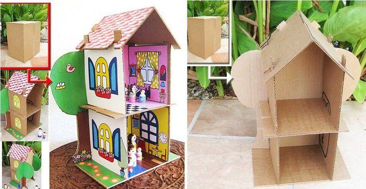 Cardboard Doll House Plans   cardboardhouse0