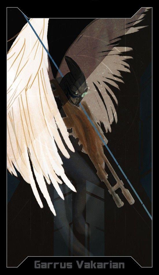 Los personajes de Mass Effect ilustrados al estilo de las cartas de tarot de Dragon Age Inquisition – Alfa Beta Juega