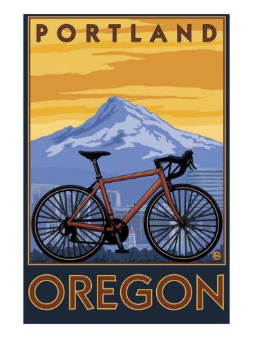 Portland, Oregon, Mountain Bike Scene Posters at AllPosters.com