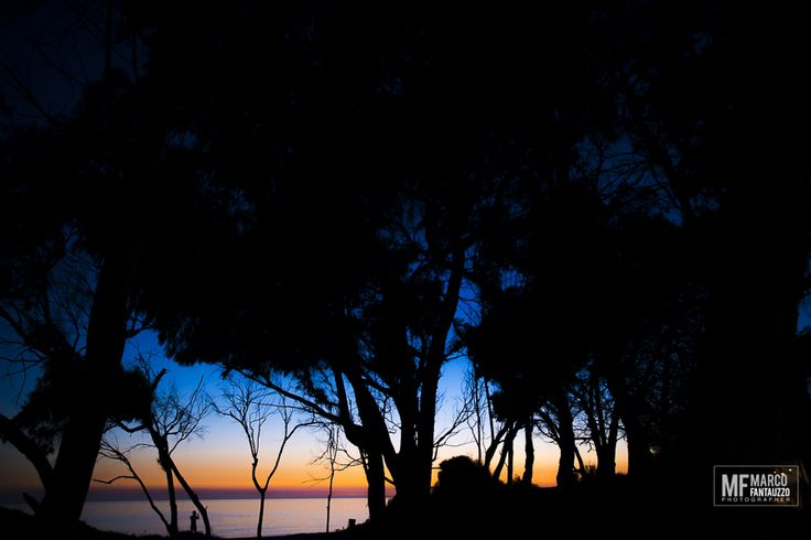 Agrigento.  San Leone al tramonto