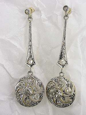 Edwardian Diamond Dangle Antique Earrings