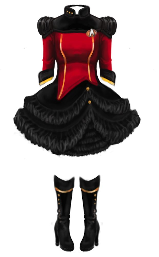 Star Trek TNG lolita dress!!! I must,must, must have this!!!!