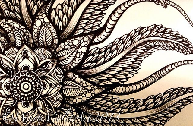 i need to rediscover how to doodle freely... - newfoundland mandala #2 | cindy belseth [white violet art @ flickr]