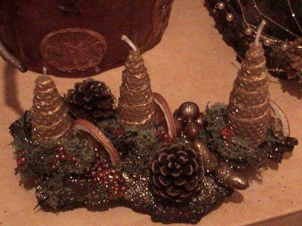 my candles for Cristmas (χειροποιητα κηροτεχνηματα)